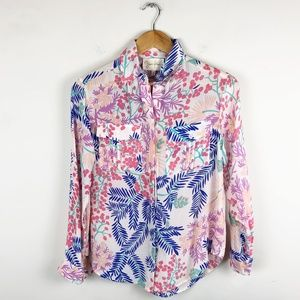 Yumi Kim Silk Button Down Blouse